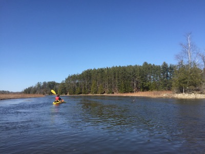 Spring Paddle on the Boardman River